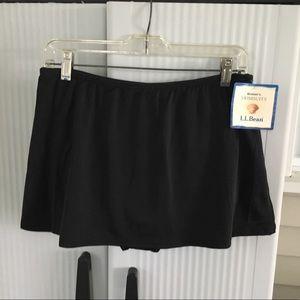 NWT LL Bean Swim Skirt Size 14